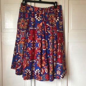 LuLaRoe Bright Colored Madison Style Skirt, XL